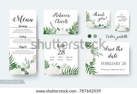 wedding cards floral design