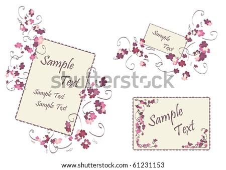 Wedding Cards with Different Sizes on a White Background