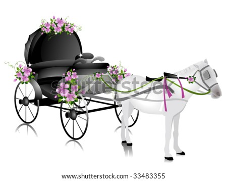 carriage. celebration. clip art