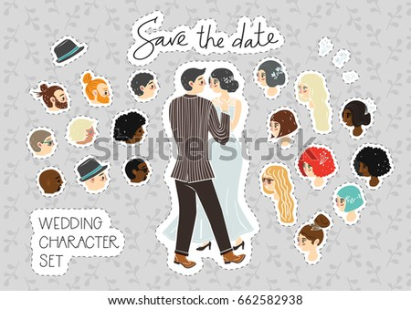 wedding character set for
