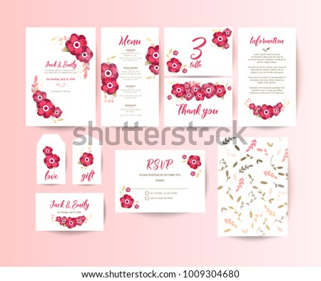 Wedding collection. Spring ornament concept. Wedding invite flyer. Wedding invite poster.  #1009304680