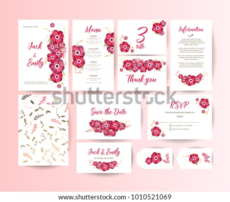 Wedding collection. Spring ornament concept. Wedding invite flyer. Wedding invite poster.  #1010521069