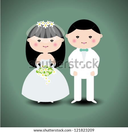 Wedding couple. Vector illustration - stock vector