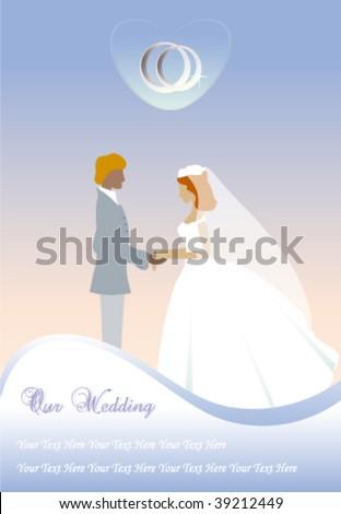 stock vector : Wedding couple.