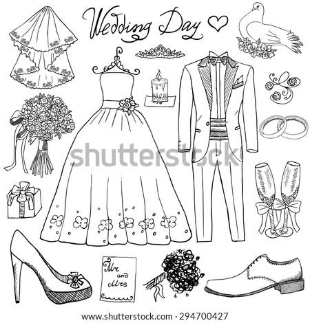 wedding day elements hand