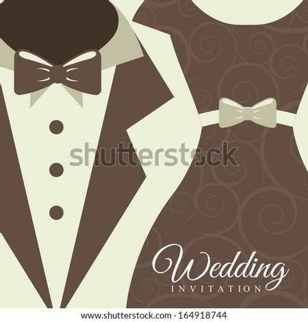 wedding design over white