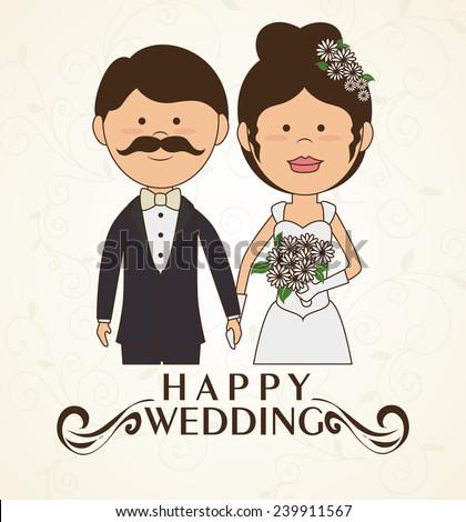 Wedding design over white background, vector illustration. #239911567