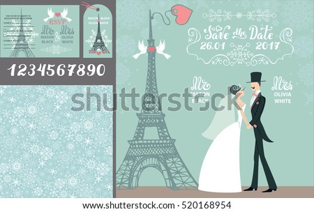wedding design template set