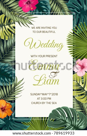 wedding event invitation card