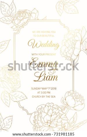 wedding event invitation