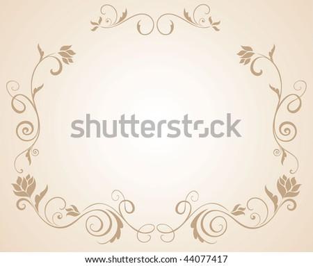 stock vector Wedding floral border