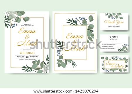 wedding floral invitation card