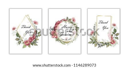 wedding floral invite
