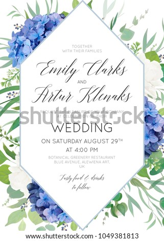 wedding floral invite  save the ...
