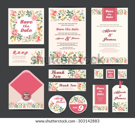Wedding invitation vector download free vector art stock wedding floral template collectionding invitation vector stopboris Images