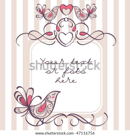 stock vector wedding frame