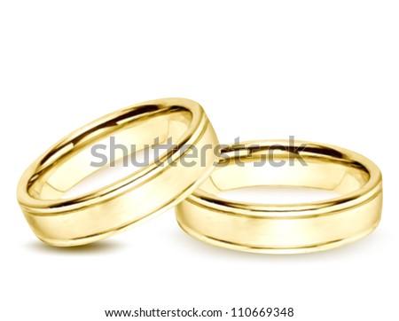 Wedding gold Rings. Vector illustration