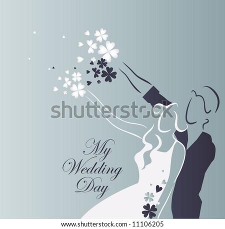 Immagine vettoriale simile a questa per il mio matrimonio? Un aiutino :) Stock-vector-wedding-graphic-11106205