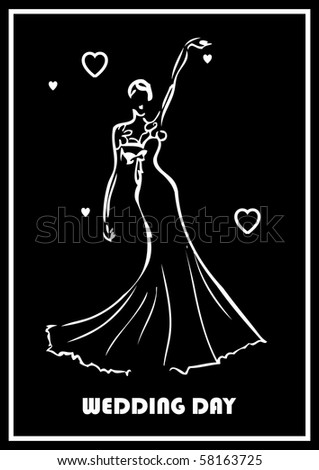 stock vector : wedding greeting card template vector fake tattoo black and
