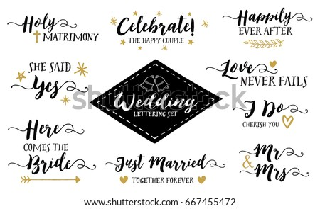 wedding hand lettering phrases