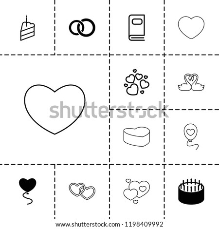 wedding icon collection of 13