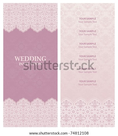wedding invitation and ornament-flowers background. Perfect as invitation or announcement.