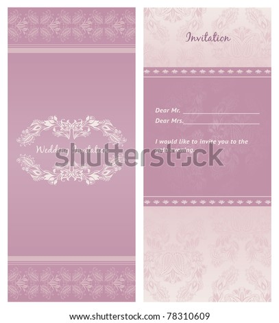 cheap purple wedding invitations