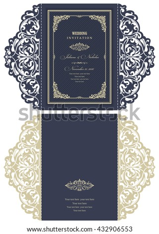 wedding invitation baroque....
