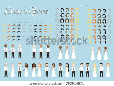 wedding invitation bride and