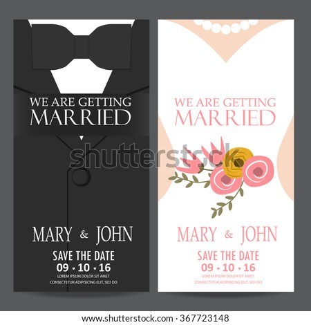 wedding invitation card  bride