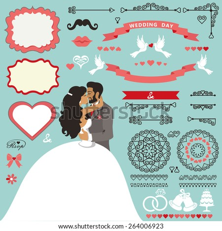 wedding invitation card decor