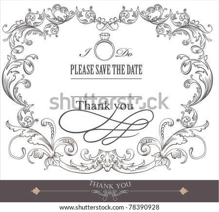 wedding invitation card design