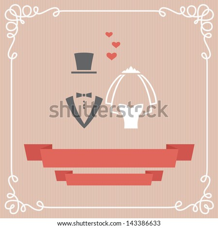 Wedding invitation card in vector