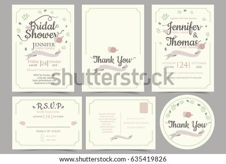 Convite de rsvp com casal download vetores e grficos gratuitos wedding invitation card minimalist style bridal shower card rsvp card thank you sticker stopboris Images