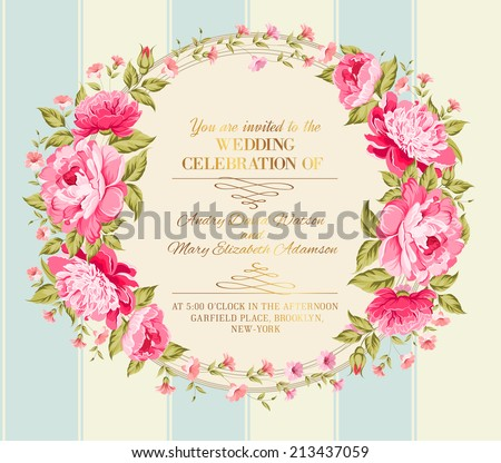 wedding invitation card of