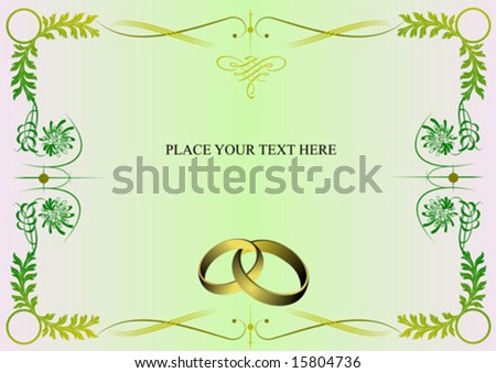 stock vector Wedding invitation card or Valentine Day card with place for
