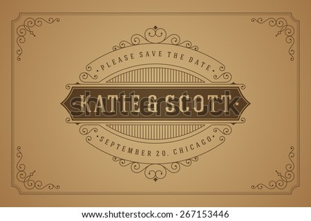 ornamental save the date vector pack download free vector art