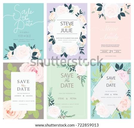 wedding invitation card set with flower #722859013