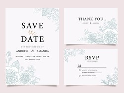 wedding invitation card template with text