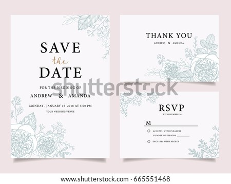 wedding invitation card template with text #665551468
