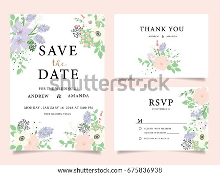wedding invitation card template with text #675836938