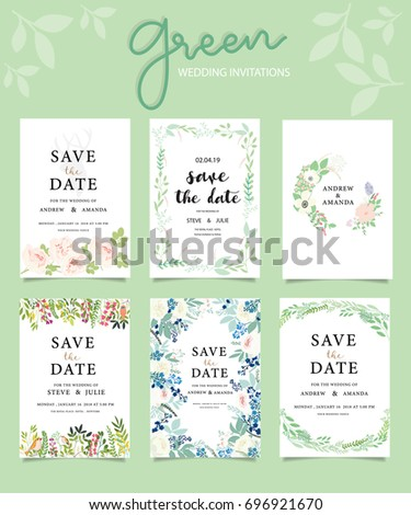 Wedding invitation card template with text #696921670