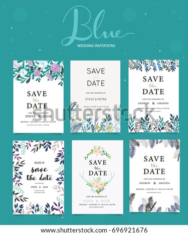 Wedding invitation card template with text #696921676