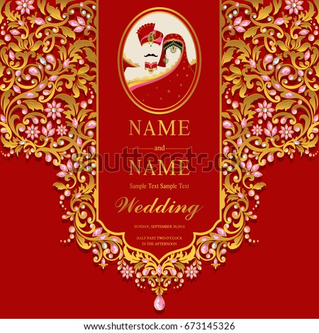 Picnetz Wedding Invitation Card Templates With Indian Man And