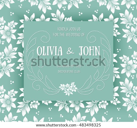 Delicate vector wedding invitation download free vector art stock wedding invitation card vector invitation card with floral background and elegant frame with text decorated stopboris Images