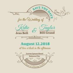 Wedding Invitation Card - Vintage Frame Theme - in vector