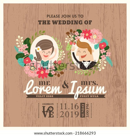 wedding invitation card with