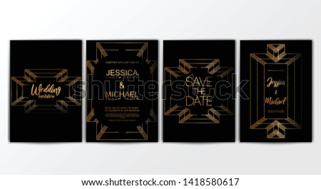 Wedding Invitation Cards. Invitation Cards with Luxurious Concept, Ornament, Luxury Poster, Vector Decorative and Pattern Vector Design Template- Vector