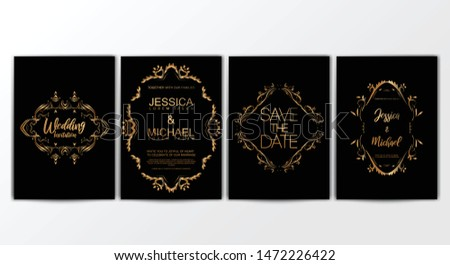 Wedding Invitation Cards. Invitation Cards with Luxurious Concept, Ornament, Luxury Poster, Vector Decorative and Pattern Vector Design Template
