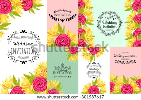 wedding invitation cards with